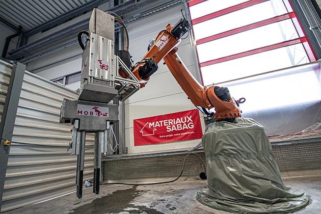 Matériaux Sabag printing concrete elements